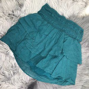 Red Carter Teal Mini Skirt XS